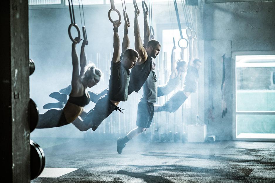 Träning på gymnastiska ringar