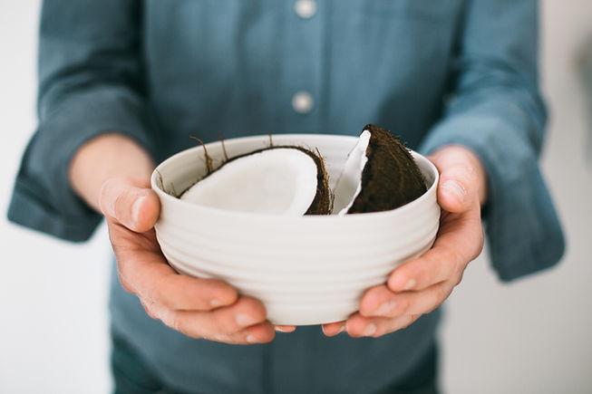 在碗裡的椰子