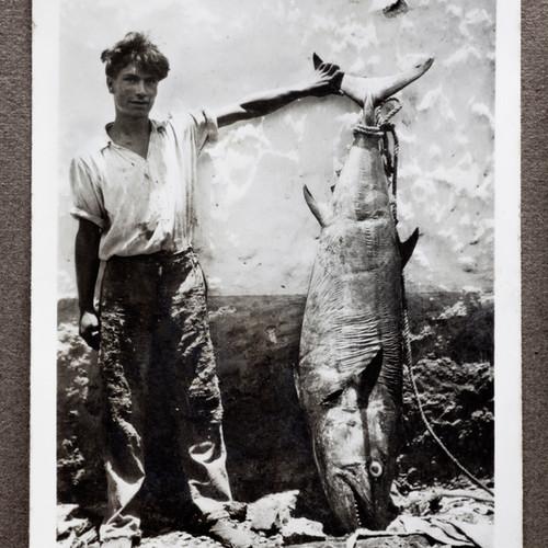 Foto antigua de pescador