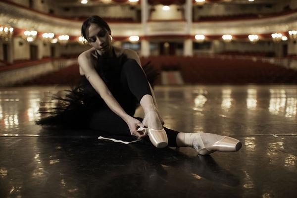 Mettre des chaussons de ballet