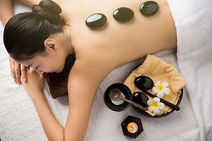 Stenar för spa-behandling
