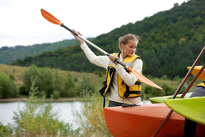Woman with Paddle