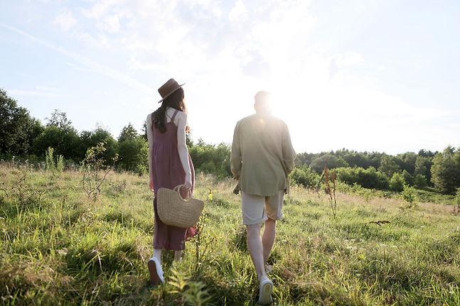 Paar in der Natur