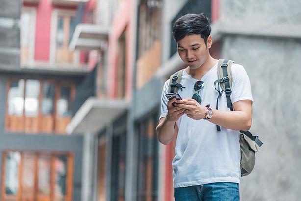 Viajero de teléfonos inteligentes