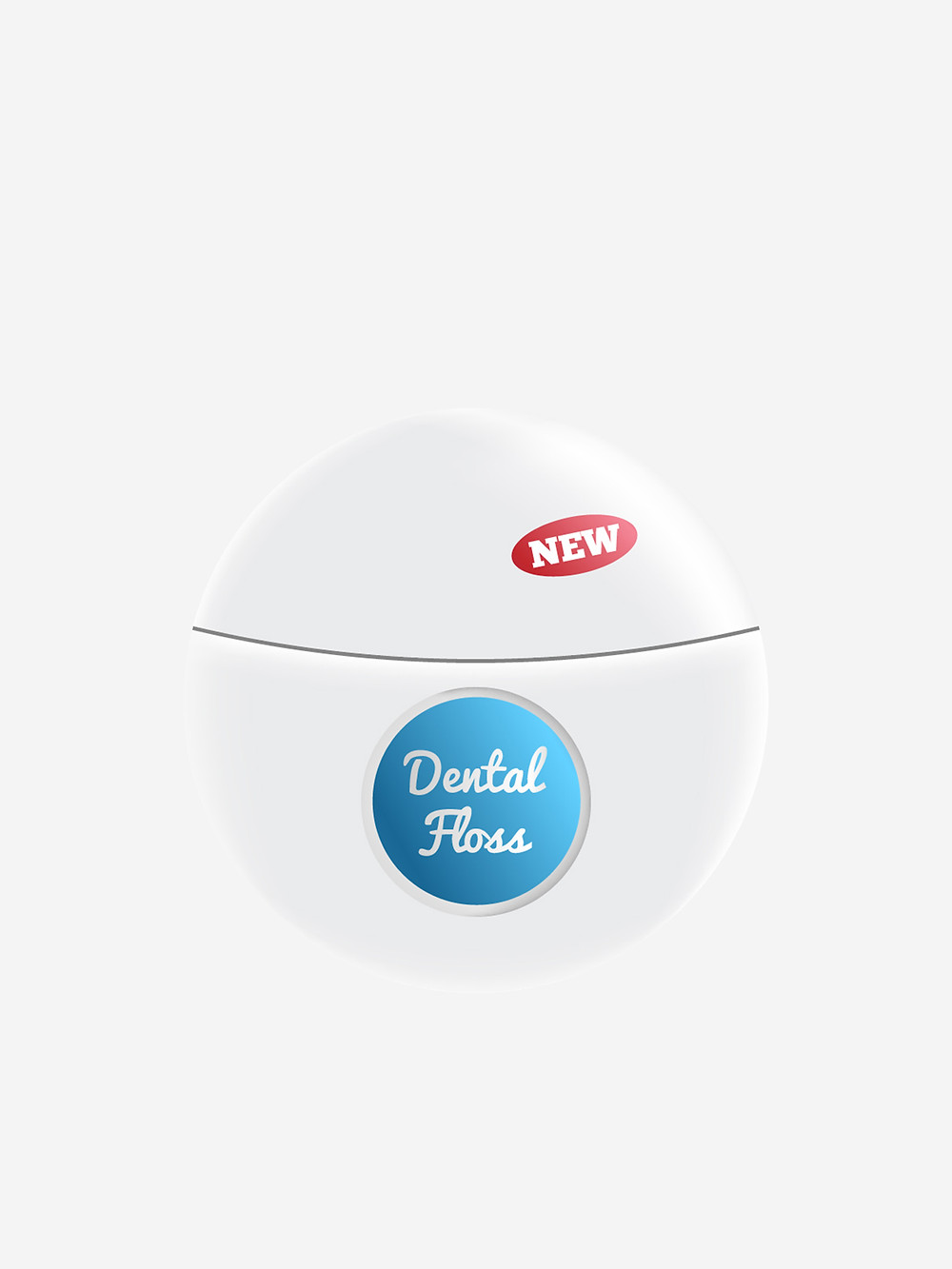 An example of a modern day Dental Floss package.