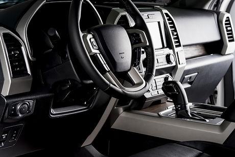 Intérieur d'automobile cuir