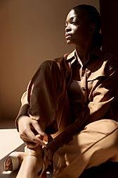 Model in Brown