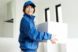 引っ越し業者の女性