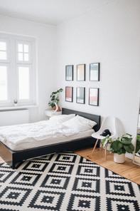 設計された寝室