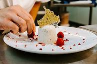 Dessert au fromage élégant