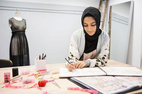 Woman Sketching