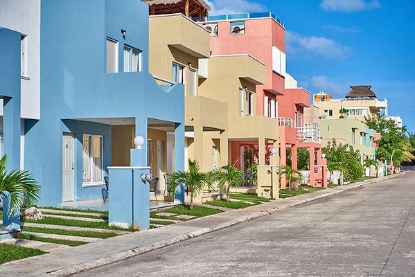 Pastel Colored Buildings