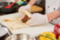 Preparando Burrito