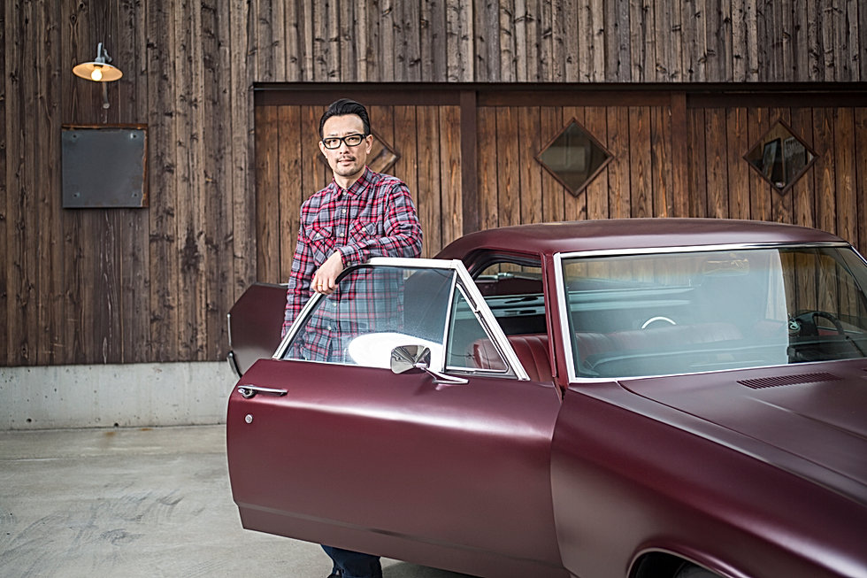 Man with Classic Car