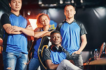 Gaming Team in Blue