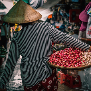 Traditional Asian market Simpang Asia influences
