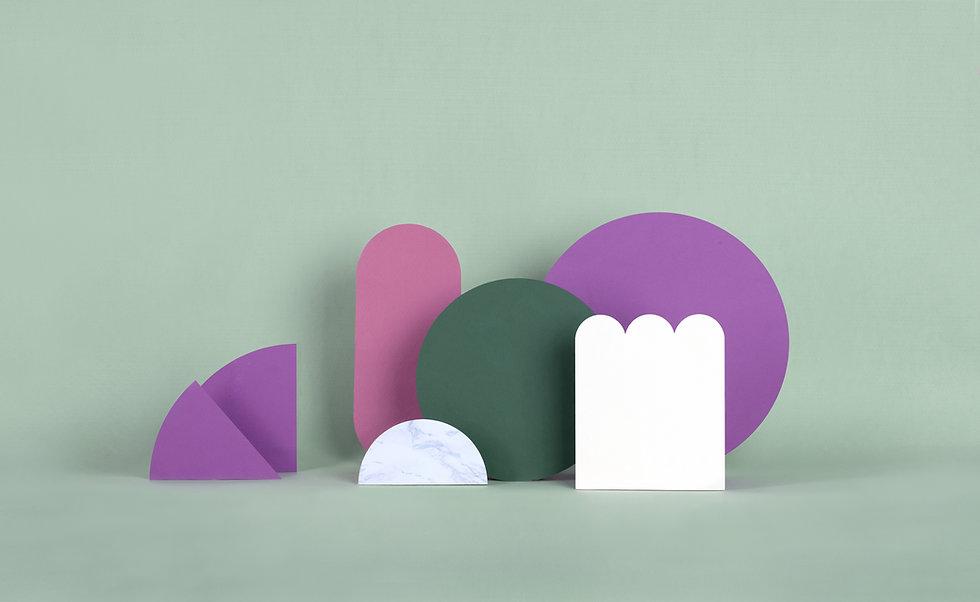 Structures en papier à la menthe