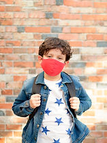 Schoolboy with Mask