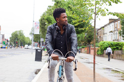 Male Model on a road bicycle