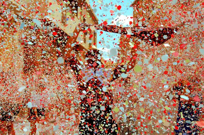 Straßenkonfetti
