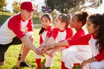 Little League Team Hands In