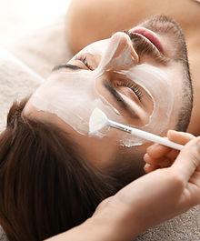 Man Facial Treatment at LUXE Aesthetics