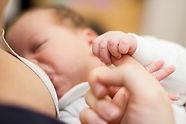 Infant successfully breastfeeding