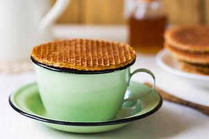 Koffie met stroopwafel