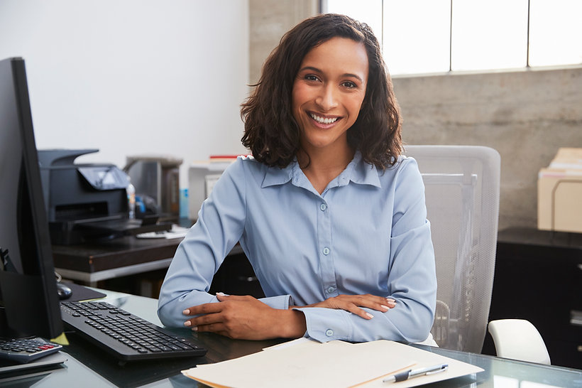 Smiling ERP business consultant in office setting
