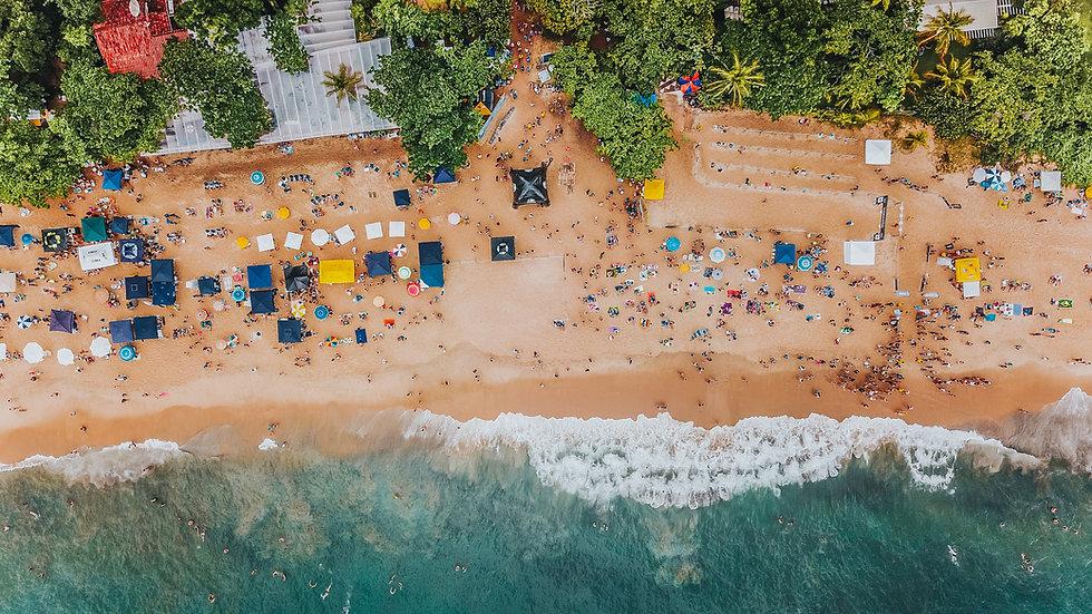 Foto aérea de praia