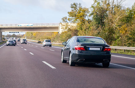 Autos auf Autobahn