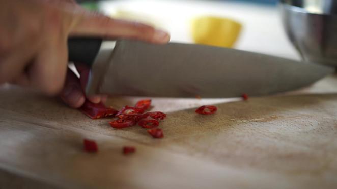 Chopping Chilis