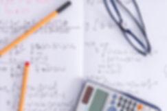 Cahier de maths et calculatrice