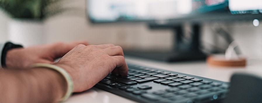 Digitando em um teclado