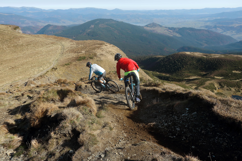 Bikers Going Downhill