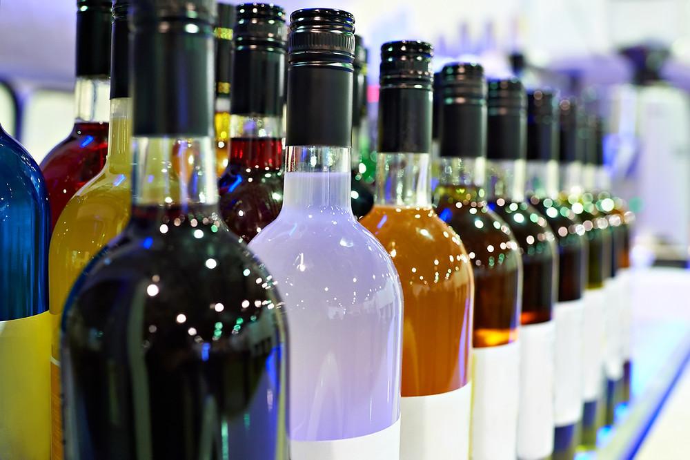 Différentes liqueurs