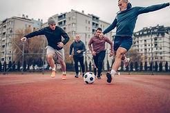 Jeu de football de quartier