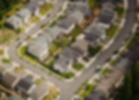 Vista aerea della strada suburbana