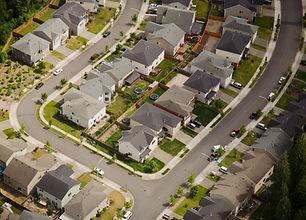 Luftbild von Suburban Street