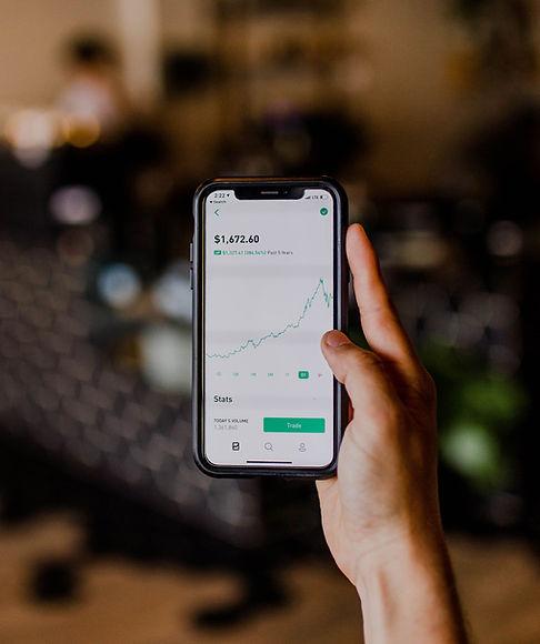 Stocks sur un écran