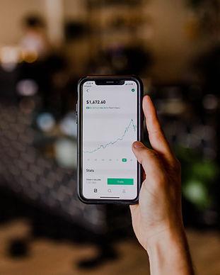 Aktien auf einem Bildschirm