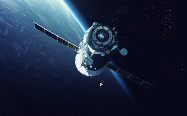 Nave espacial en orbita
