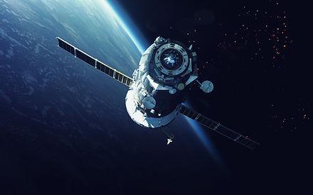 軌道上の宇宙船