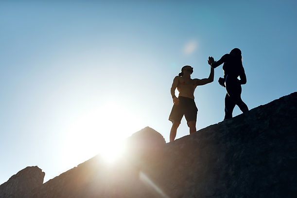 Fitness Couple High Five