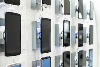 Exhibición en tienda de teléfonos celula