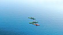 Luftaufnahme von Kajaks