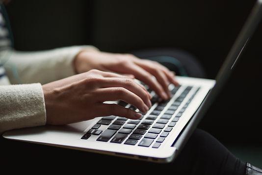 Hands typing testimonial