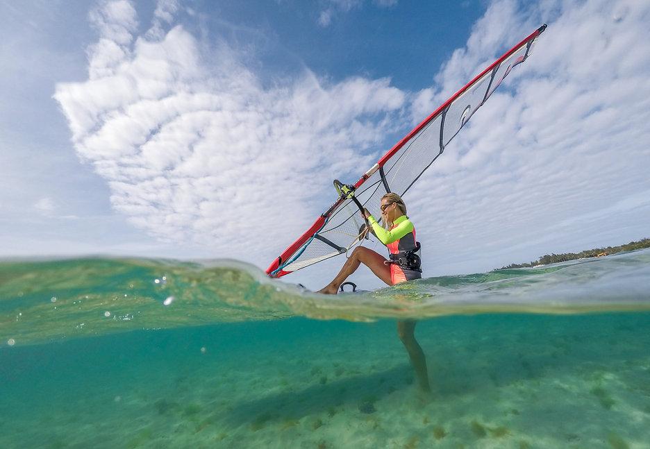Woman Windsurfing