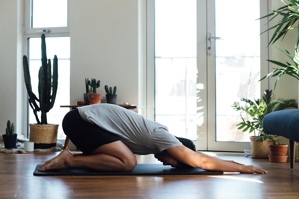 Reducing anxiety and tension through yoga and breath work (pranayama)