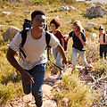 Une randonnée en groupe